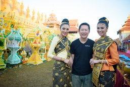 ຄະນະ Miss Grand International 2016 ຮ່ວມໃສ່ບາດທີ່ບຸນທາດຫຼວງວຽງຈັນ