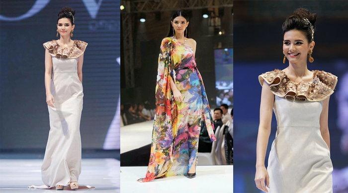 ຄຼິສຕີນາ ລາສະສີມາ ງາມໂດດເດັ່ນເທິງເວທີ  Vientiane WOW Fashion Week 2017