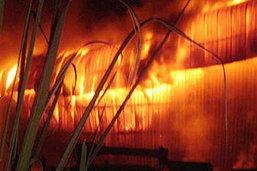 พฐ.ตรวจหาสาเหตุเพลิงไหม้โรงงานผลิตสี