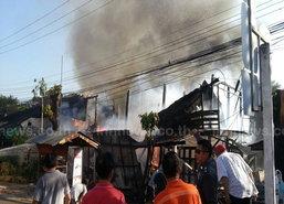 ไฟไหม้ห้องแถวตลาดเกาะคาลำปางวอด6หลัง