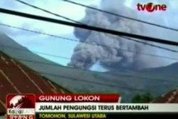 ภูเขาไฟโลกอนในอินโดนีเซียปะทุขึ้นอีกระลอก
