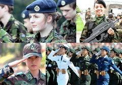 ประมวลภาพ ทหารหญิงแกร่งทั่วทุกมุมโลก