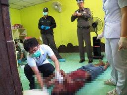 แรงงานพม่าโหดใช้ไขควงเจาะหัวเพื่อนดับ