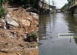 กระบี่ส่งน้ำช่วยชาวพังงาประสบภัยน้ำท่วม