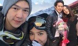 หวานไม่แพ้ใคร! อั้ม ควง แอมป์ สกีหิมะฉ่ำรักที่ญี่ปุ่น