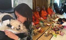 อั้ม บินด่วนจากปารีสกลับไทย จัดงานศพสุนัขแสนรัก