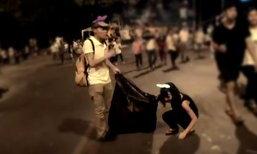 ชื่นชม นักท่องเที่ยวจีนเดินเก็บขยะ ประเพณีเดินขึ้นดอยสุเทพ