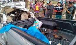 สลด รถรับส่งนักเรียนตากใบนราธิวาสพลิกคว่ำตาย 9 เจ็บ 3
