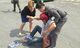 ผบ.ตร.สั่งหยุดขบวนรถ ช่วยผู้ขับขี่ประสบอุบัติเหตุ กลางแยกวัดเบญจมบพิตร