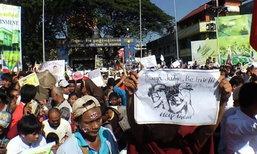 ชาวเมียนมาร์ ยันชุมนุมหน้าสถานทูตไทยไม่มีเบื้องหลัง