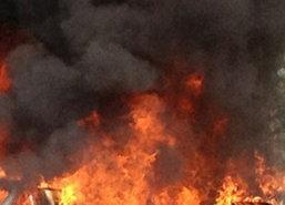 ไฟไหม้กุฏิวัดหลวงพ่อเสือดำวอด5หลังไร้เจ็บ