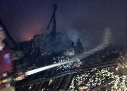 ไฟไหม้วอดโรงงานเก็บของเก่าสมุทรสาคร