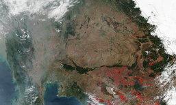 ชาวเน็ตเห็นแล้วท้อ แผนที่ไทยแล้ง แทบไร้พื้นที่สีเขียว