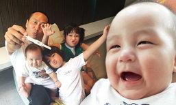 """ส่องภาพน่าเอ็นดู """"น้องออกู๊ด"""" วัย 6 เดือน ลูกชายเปิ้ล นาคร"""