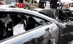 """ตำรวจระบุ """"เจนภพ"""" ขับเบนซ์ชนรถฟอร์ดด้วยความเร็ว 217-257 กม./ชม. เตรียมแจ้งเอาผิดอีก 2 ข้อหา"""
