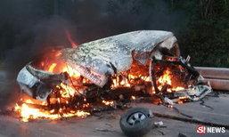 โศกนาฏกรรม รถตู้วินเมืองคอน คว่ำไฟลุก ตายสยอง 4 ศพ