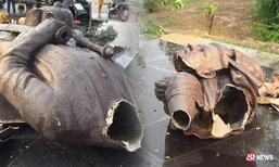 พายุหมุนซัดบุรีรัมย์ อนุสาวรีย์พระยาเสนาสงครามแตกเสียหาย