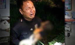 สุดเวทนา! หนุ่มกู้ภัยอุ้มศพลูก-เมีย โดนกระบะชนดับ 4 ศพ