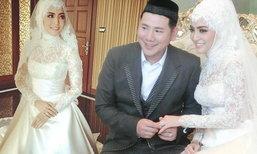 งานแต่งพิ้งกี้ สาวิกา กับเจ้าบ่าวเพชร อิทธิ  ในพิธีอิสลาม