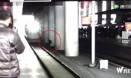 รถไฟจีนโดนฟ้อง 100 ล้าน เหตุสยองชนหนุ่มยืนตายคาสถานี