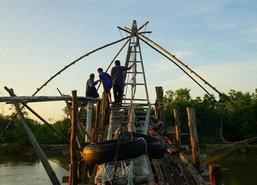 เด็กพัทลุงช่วยผู้ปกครองหาปลาช่วงปิดเทอม