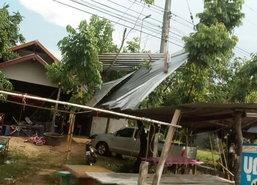 พายุถล่มศรีสะเกษบ้าน-สวนยางพังเสียหายอื้อ