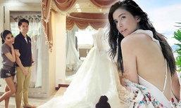 แหวนแหวน เฉลยแล้วภาพ หนุ่มกรณ์ ดูชุดแต่งงานในสตูดิโอดัง