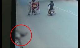 สลดหดหู่ รถชนหนุ่มอินเดียแล้วหนี ไม่มีใครสนใจช่วยเลย