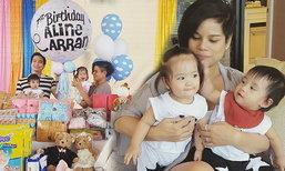 """โอปอล์สอนลูกแฝดน่ารัก วันเกิดครบหนึ่งขวบ """"น้องอลิน อลัน"""""""