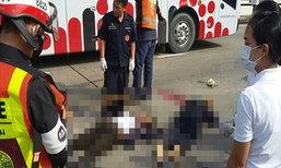 กระบะชน จยย.รถเมล์เหยียบซ้ำดับ 2 เสรีไทย