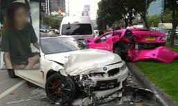 สาวขับ BMW ชนเละ 9 คันรวด ถ.รัชดาฯ คลั่งร่ายรำ-อยากตาย
