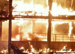 ไฟไหม้บ้านเรือนชุมชนเก่านครพนมเสียหาย12หลัง