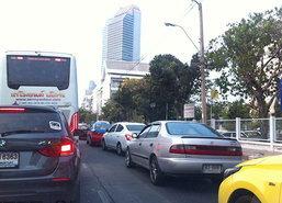 ปรับจราจรวงเวียนรัชโยธินวันแรกรถติดขัดสะสม