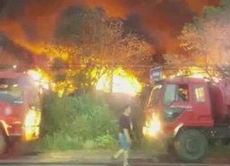 ไฟไหม้โกดังเก็บของเก่าปราจีนฯวอดแล้ว6ไร่