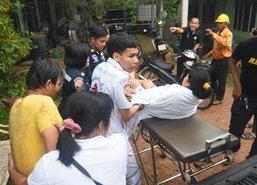 พัทลุงฝนตกฟ้าผ่าชาวบ้านในขนำสวนยางเจ็บ3