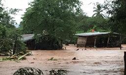 """พิษพายุ """"เซินกา"""" อีสานฝนตกทั้งวันทั้งคืน โคราชเจอน้ำป่า"""