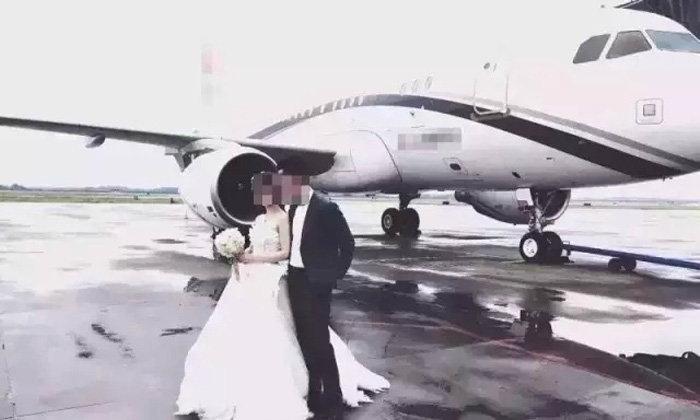 ไม่รวยจริงทำไม่ได้! บ่าวสาวจีนนั่งเครื่องบินเจ็ทไปงานแต่ง