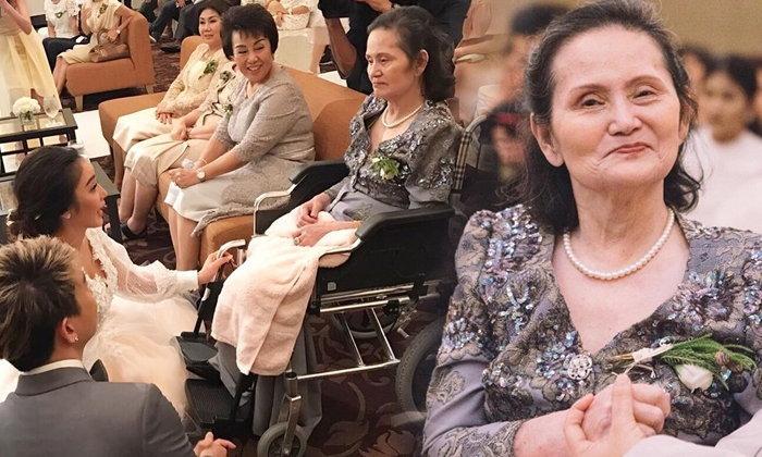 แพท ณปภา เผยภาพประทับใจ รอยยิ้มของแม่ในวันแต่งงาน