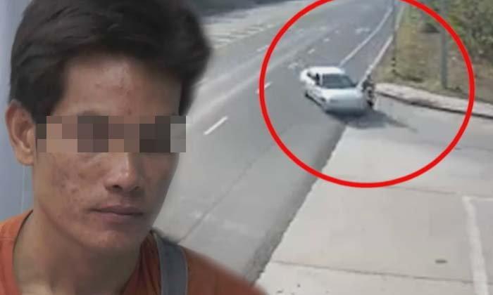 รวบแล้วคนขับรถเก๋งชนจยย.สาวแล้วหนี อ้างตกใจ