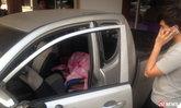 แบบนี้ก็มีด้วย? โจรทุบกระจกนอนห่มผ้าหลับในรถ อ้างอากาศหนาว