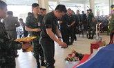 พิธีรดน้ำศพทหารยะลาถูกระเบิดจนเสียชีวิต