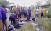 กระบะชนคนงานริมถนนระนองตาย4บาดเจ็บ9