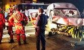 รถตู้ซิ่งชนเก๋งชลบุรี ตาย1เจ็บ4