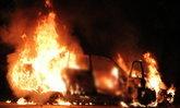 ไฟไหม้เก๋งมือสองกลางถนนเมืองลำปางวอดทั้งคัน