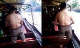 ผู้โดยสารมึน? คนญี่ปุ่นจะต่อย 2 หนุ่มบนเรือคลองแสนแสบ