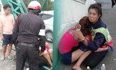 แห่ชื่นชม ตำรวจ-พนง.กวาดถนน ช่วยกล่อมสาวคิดสั้นโดดสะพาน