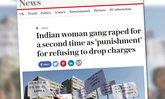 นักศึกษาสาวอินเดีย ถูกรุมข่มขืนซ้ำ หลังไม่ยอมความ