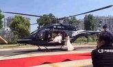 ด่ายับ! เฮลิคอปเตอร์จอดกลางถนน รับเจ้าสาวไปงานแต่ง