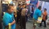 แตกตื่น! หนุ่มร่างอ้วนเสื้อฟ้า ไล่ทุบคนบน BTS