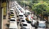 ถนนรามคำแหงขาเข้ารถมากเคลื่อนตัวช้า
